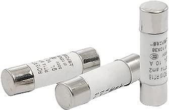 SOURCING MAP R015 RT18 500V 10A Cer/ámica Cil/índrico Fusible Conexiones 10x38mm 20 Piezas
