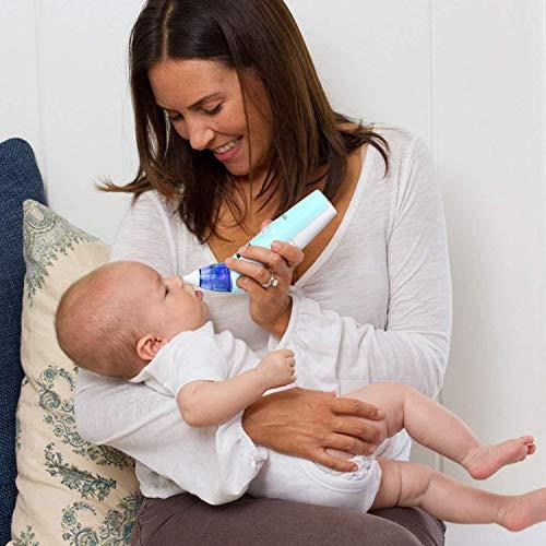 INTEY Nasal Aspirator Nasensauger sicherer und schneller sowie hygienischer Nasenschleimentferner mit Musik & Licht 3 Betriebsstufen & 2 Größe für Neugeborene & Kleinkinder - 3