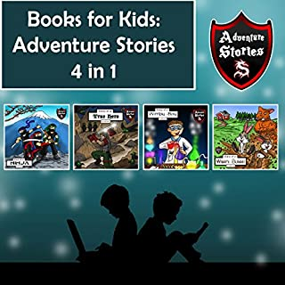 Books for Kids: Hero Diaries with Action and Adventure     Kids' Adventure Stories 4 in 1              By:                                                                                                                                 Jeff Child                               Narrated by:                                                                                                                                 John H Fehskens                      Length: 2 hrs and 10 mins     7 ratings     Overall 4.4