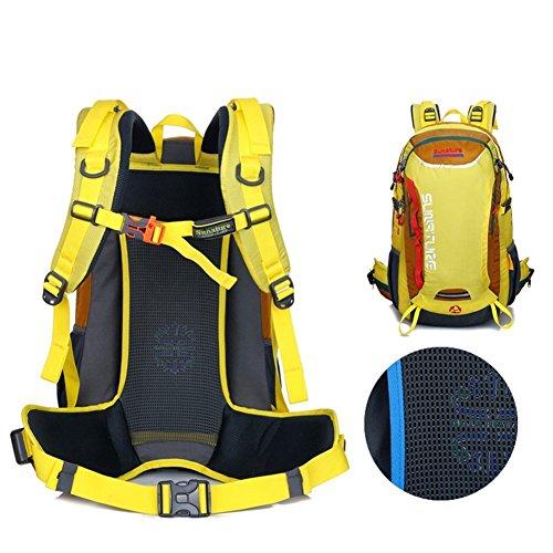 Sincere® Package / Sacs à dos / portable sac à bandoulière / Ultraléger Alpinisme / sac à dos étanche / extérieur sac de Voyage de Voyage / sac de sport jaune 40L