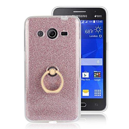 Samsung SM-G355 Funda, YINCANG 2 in 1 Glitter Bling Funda de Gel de Silicona Soft TPU con 360 °Grados…