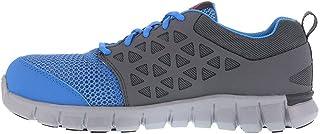 Reebok Mens Blue & Grey Mesh Work Shoes Alloy Toe Oxfords