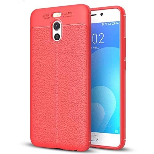 ASAMOAH Custodia Protettiva per telefoni cellulari for Meizu M6 Note Litchi Texture Soft TPU Anti-Skip Cover Protettiva Back Case (Nero) Copertura del Telefono (Colore : Red)