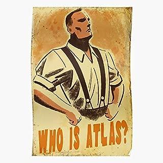 Atlas Ayn Infinite Who Is Nerd Rand Videogames Bioshock - Gift for Home Decor Wall Art Print Poster