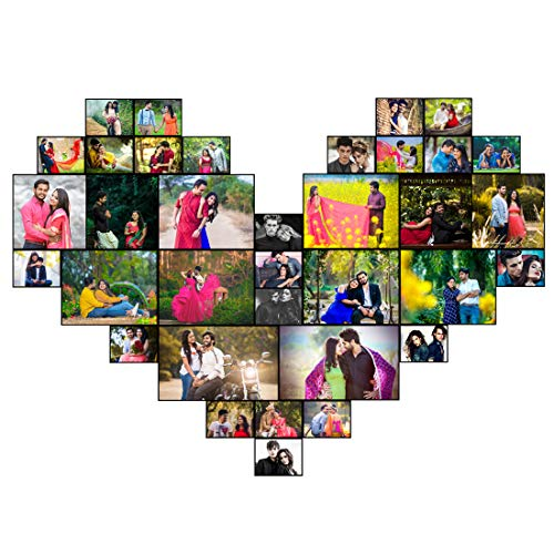 SAP Personalized Gift Personalized Photo Frame Desing of Heart for Mother, Father, Birthday, Valentine's, Anniversary (12x18)