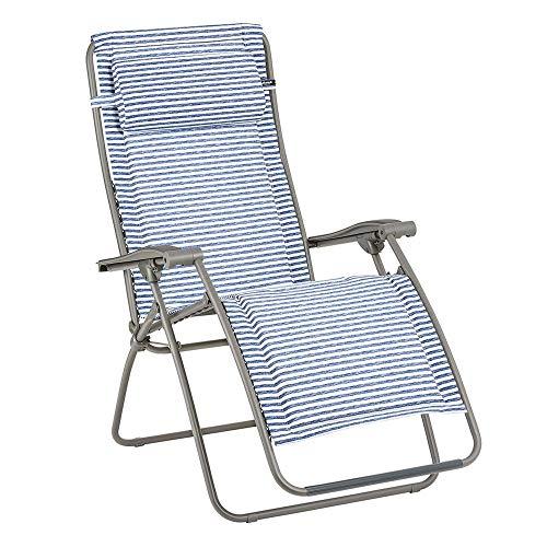 LAFUMA MOBILIER Relax-Liegestuhl, Klappbar und verstellbar, RSX Clip Mat, Polyester/Baumwolle, Farbe: Marine, LFM2037-9291