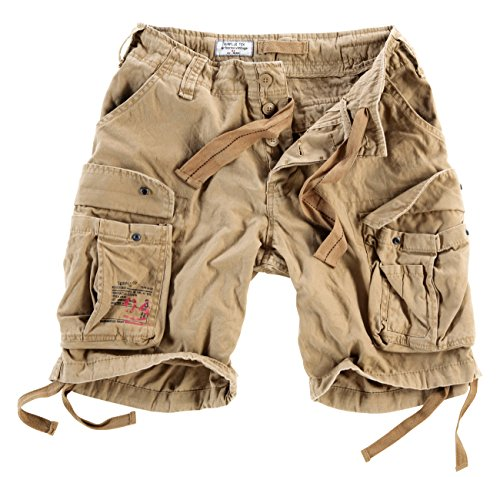 Surplus Herren Airborne Vintage Cargo Shorts, Beige, Gr. M