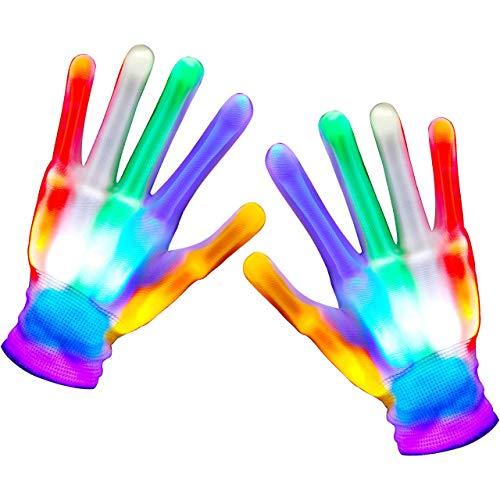 Easony Spielzeug 3-12 Jahre Junge Mädchen,Handschuhe Kinder Spielzeug ab 3 4 5 6 7 Jahren für Jungen Mädchen Geschenke 3-7 Jahre Ostergeschenke Kinder Led Handschuhe Weihnachts Geschenke für Kinder