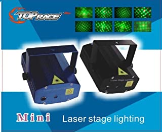 Top Race 20 Patterns LED Mini Stage Light Laser Projector Club Dj Disco Bar Stage Light, Voice-Activated Version FDA & Amazon Standards Laser Type: Class IIIR