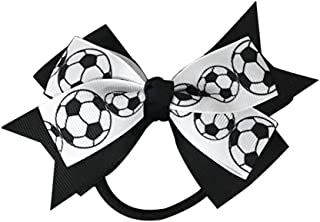 Infinity Collection Soccer Hair Accessories, Soccer Hair Bows, Soccer Bow for Girls, Soccer Gift