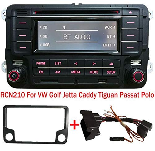 Autoradio Stereo RCN210 Bluetooth CD MP3 USB AUX SD for per VW GOLF PASSAT TOURAN JETTA POLO TIGUAN CADDY EOS CC + CAN Cavo