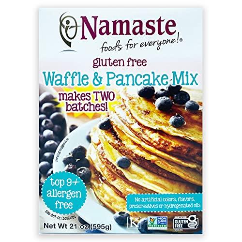 Namaste Foods Gluten Free Waffle & Pancake Mix, 21 oz (Pack of 6)