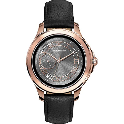 Emporio Armani heren-smartwatch met lederen armband ART5012