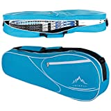 Himal 3 Racquet Tennis-Bag Premium Tennis-Racket-Bag with Protective Pad, Professional or Beginner Tennis Players, Lightweight Tennis Bag for All Ages (Blue)