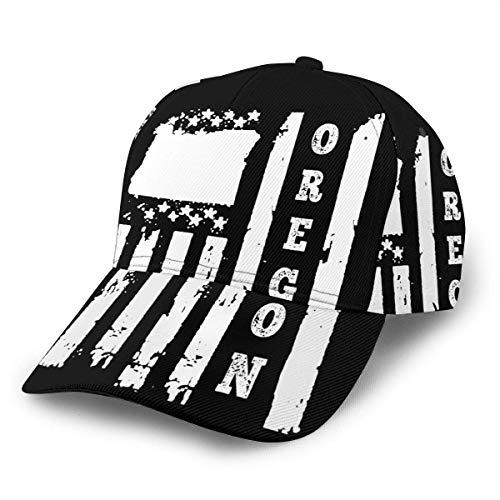 Baseball Cap Oregon State American Flag Baseballmütze Sommer Erwachsene Unisex Leichte Snapback Classic Retro Wandern Drucken Unisex Flat Bill Hübsche Hip Hop Hüte Papa Mütze Truck