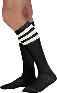 Medias hasta la rodilla de tubo con rayas de varios colores para mujer