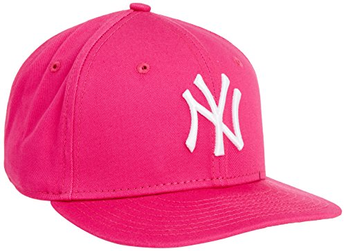 New Era - Kids MLB Basic NY Yankees 9Fifty Fitted, Berretto infantile, rosa (hot pink), única