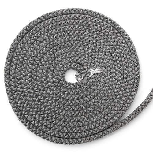 Kamindichtung 3m, ø 10x6mm Flachdichtung Dichtband NICHT selbstklebend für Tür-Dichtung. Passend für verschiedene Oranier Kamin Modelle