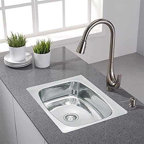 CROCODILE SB-2418G Single Bowl Kitchen Sink, Silver, Glossy Finish