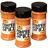 The Spice Lab Pumpkin Pie Spice - Great Holiday Pumpkin Spice Seasoning - Shaker Jar 3 Pack - Kosher Gluten-Free Non-GMO All Natural - Perfect for Pumpkin Pies