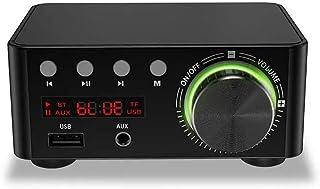Honeytecs Multifunctional BT Digital Mini Audio Power Amplifier Portable Sound Amplifier Speaker Amp for Car and Home