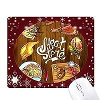 肉のバーベキューステーキ店 オフィス用雪ゴムマウスパッド
