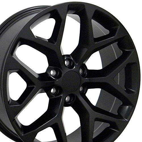 OE Wheels LLC 20 Inch Fits Chevy Silverado Tahoe GMC Sierra Yukon Cadillac Escalade CV98 Satin Black 20x9 Rim Hollander 5668