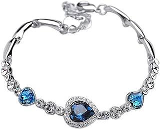 4 Couleurs Océan Coeur Bracelet Love Forme Cœur Zircon Cristal Bracelet élégant