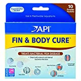 API 2 Pack of Fin and Body Cure Freshwater Fish Powder Medication, 10-Count Per Pack