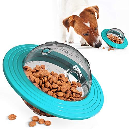 JR. Meet Giochi per Cani, Accessori Cani Palla Giocattolo interattivo Resistente Palla per Cani Distributore di Cibo Gioco Cane Treat Palla (Blu)