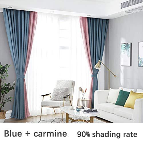 Xiao Jian Gordijnen voor babykamer, verduisterend, verschillende kleuren, voor zonlicht, behandeling, voor baby's, 1 paneel, kinderkamer, meisjes, plissé