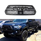 MC Auto Parts Trd Pro Grille for 3rd Gen Tacoma, Fit: 2016-2021 All Models, Multiple Lettering Color (Black/Grey/White/Red/Voodoo Blue/Quicksand/Cement Grey/Magnetic Grey/Cavalry Blue) (Black)