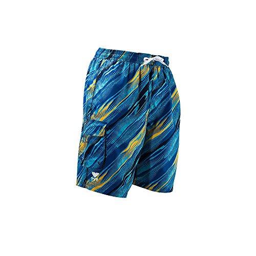 TYR Mens River Rider Swim Trunk, XL, Blue