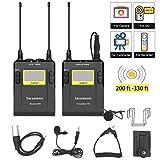 UHF Wireless Lavalier Microphone DSLR, Saramonic UwMic9 96-Channel 2-Channel...