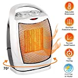 Oscillating Space Heater – Forced Fan Heating with Stay Cool Housing - Thermal...