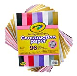 Crayola Construction Paper, Colored & Metallic Sheets, 9'x12', 96Count
