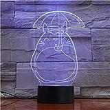 3D Totoro LED originalidad luces de noche lámpara de atmósfera...