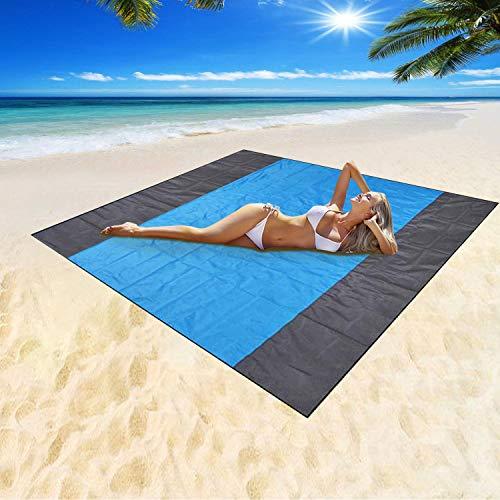 Mumu Sugar Sand Free Beach Blanket, Extra Large Waterproof Beach Mat-Lightweight Quick Drying Heat...