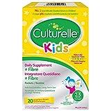 Culturelle ® Kids Biotics Natural Fibre supporto quotidiano per i bambini | 20 bustine |2,5 miliardi di colture batteriche vive + fibre