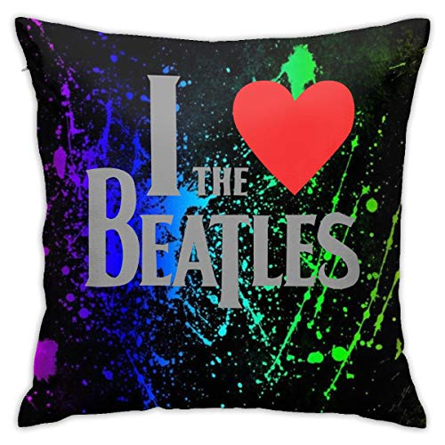 I Love The Beatles Logo kissenhülle Kopfkissenbezug Bettkissenbezug Pillowcase für Herren & Damen & Jugend Jungen Mädchen
