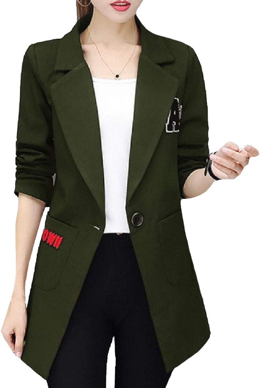 Vska Women Regular Fit Open Front ThighLength Blazer Duster Coat