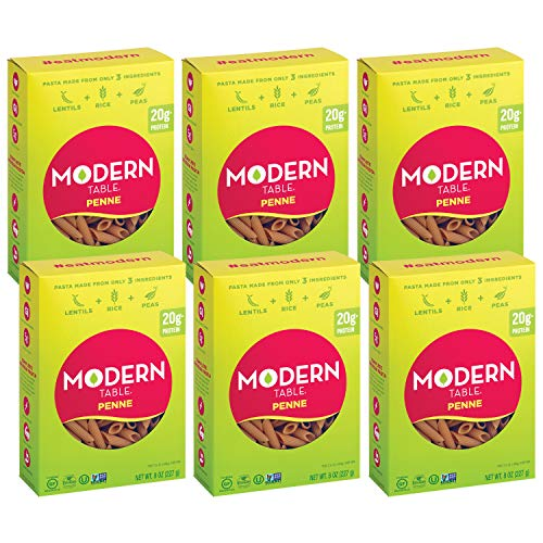 Modern Table Gluten Free, Complete Protein Lentil Penne Pasta, 6 Count