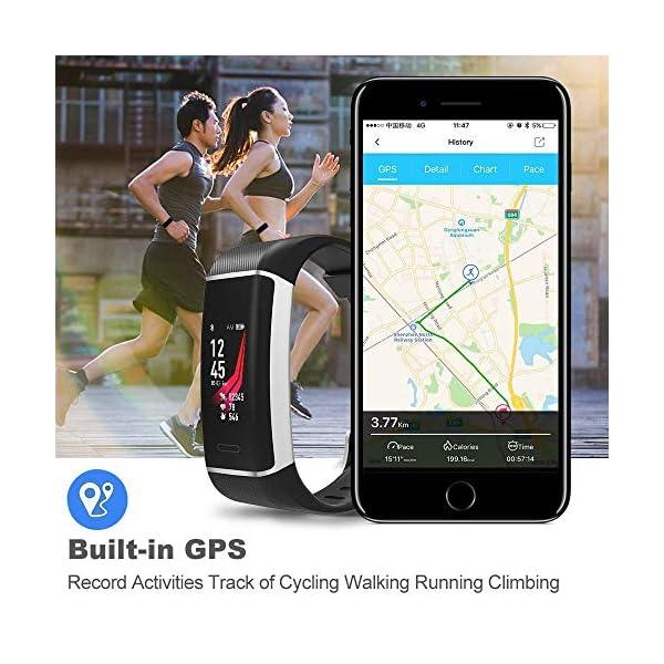 YOUNGDO Pulsera Actividad GPS, 24 modos deportivos Monitor pantalla en color monitor de ritmo cardíaco, GPS incorporado… 7