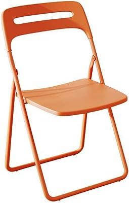 QYYCzdy Silla Plegable Plástico Oficina Playa Relajarse Silla Respaldo portátil Silla Naranja