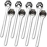 8-Pack Cat Paw 18/10 Stainless Steel Teaspoon, Coffee, Stirring, Sugar, Cake, Desser, Ice Cream Spoon, 5.9 Inches.