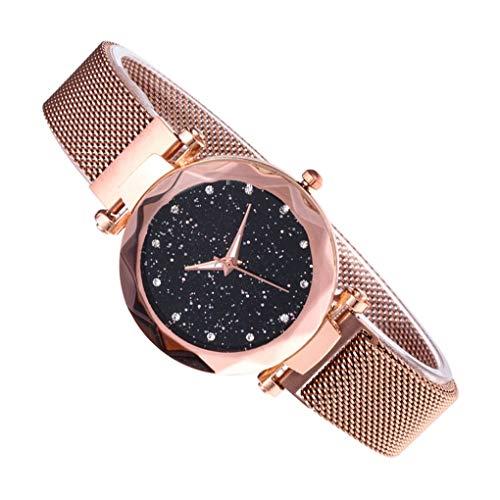 Guangcailun El Regalo de Las Mujeres de la Estrella Sky Watch Malla Banda de Cuarzo analógico Reloj de Pulsera Pulsera de la Novia de Vacaciones