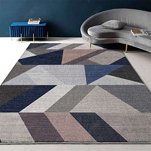 TANGYUAN traditional Living Room Rug Area carpet - Bedroom carpet stitching geometric creative design simple contemporary stitching breathable short velvet-140x200cm