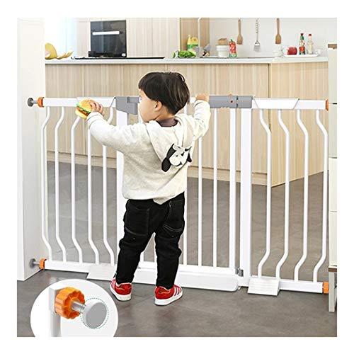 YONGYONG-Guardrail Baby-Tor Selbstschließende Durchgangsbaby-Haustiertore for Treppen Durchgangsbaby-Treppen-Kamin-Geländer Hundeisolierungs-Metalltürgitter Mit Extra Breiter Türdruckhalterung