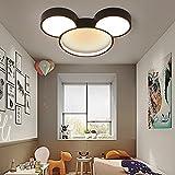 Modern LED Ceiling Light XINDAR Acrylic Cartoon Mickey Mouse Flush Mount Light Stepless Dimming Ceiling Light Fixtures for Kids Room Girls Room Children's Room Boys Room Bedroom