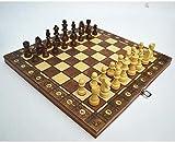Barir Internacional de Ajedrez, 3 en 1 de Madera Ajedrez Backgammon Damas Plegables magnética Juego de ajedrez Piezas del Tablero de ajedrez Juegos de Mesa Regalos de los niños